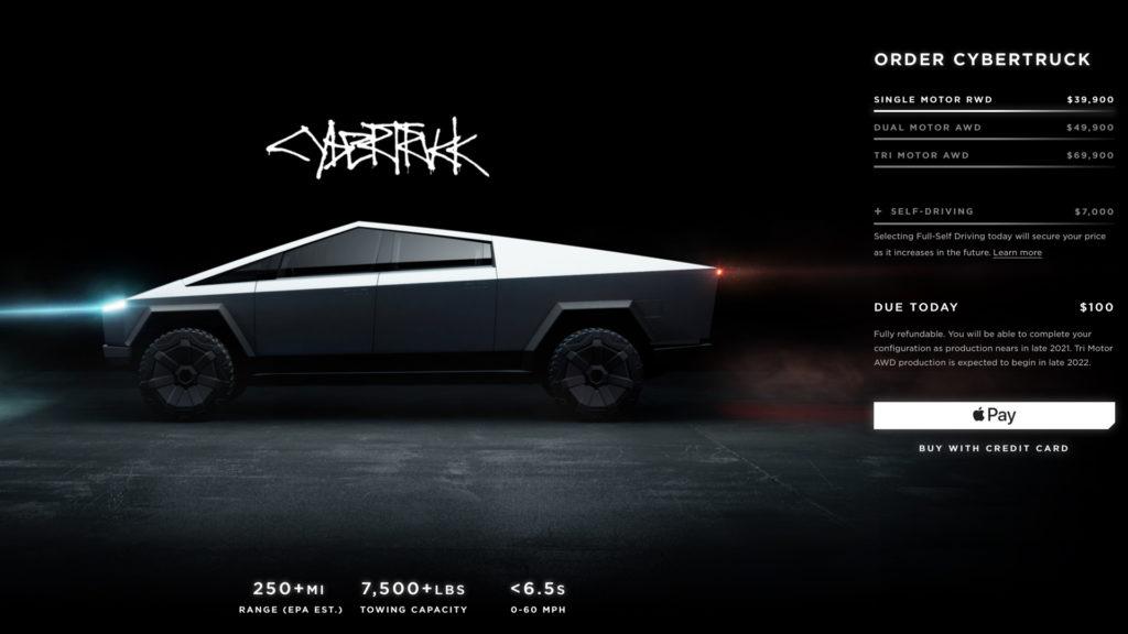 Tesla Cyber Truck - Cenovky