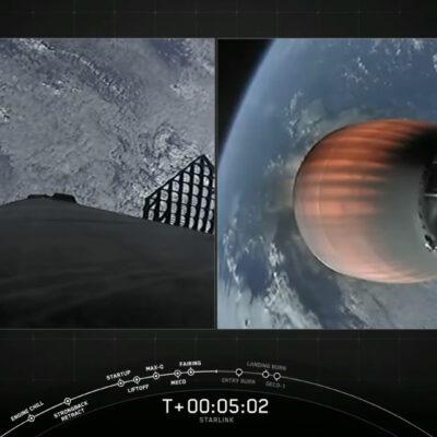 SpaceX vyniesol do vesmíru ďalšie satelity Starlink. Zdroj Youtbe SpaceX