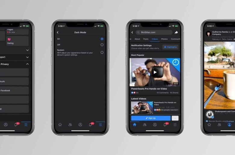 Facebook bude dostupný už aj v tmavom režime.