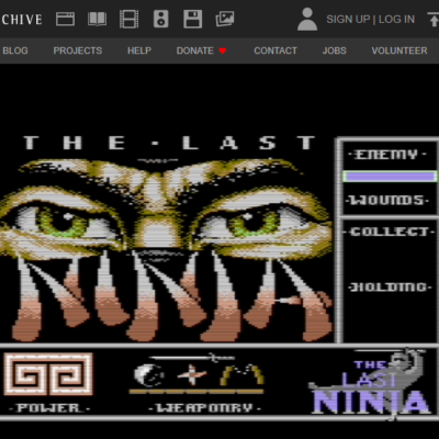 8-bitové hry v internetovom archíve!